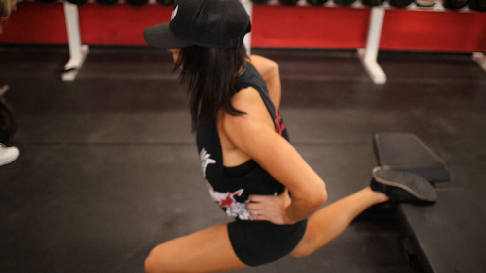 bulgarian squat glute and hamstring workout