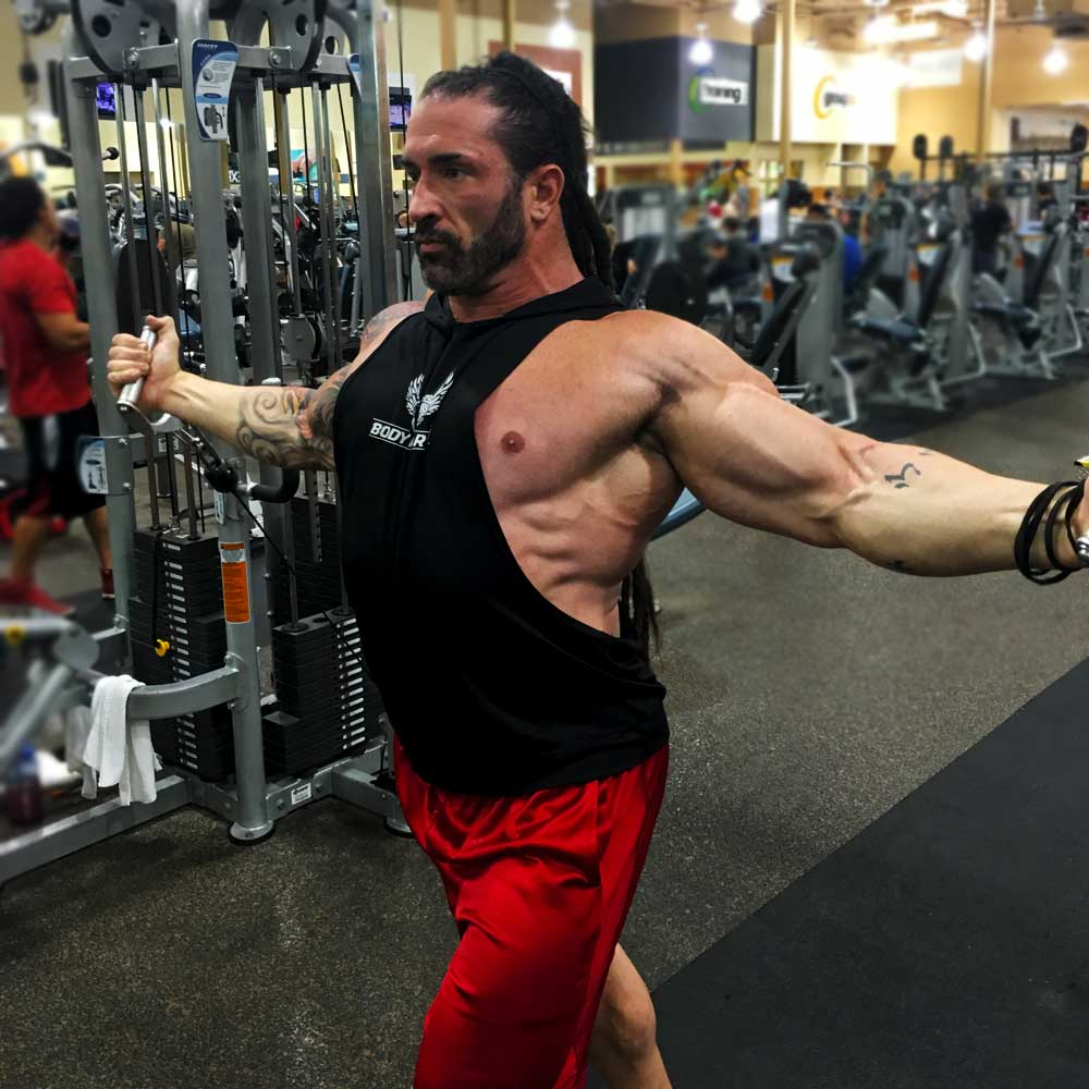 Cable flies for chest workouts