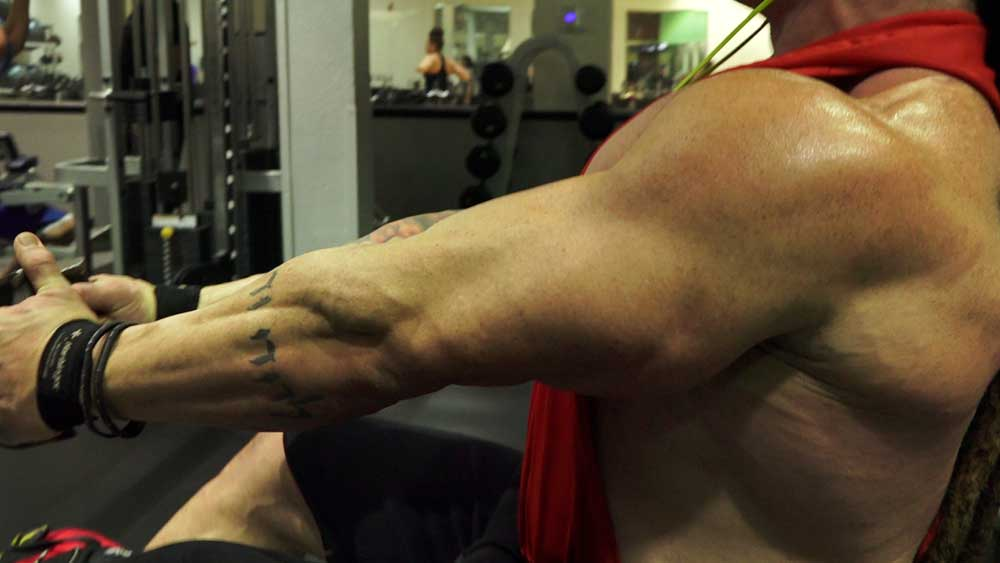 Cable low row for back workouts