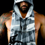 Camo hoodie by Gabe Tuft