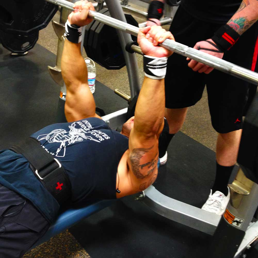 Close grip bench press for arm workout