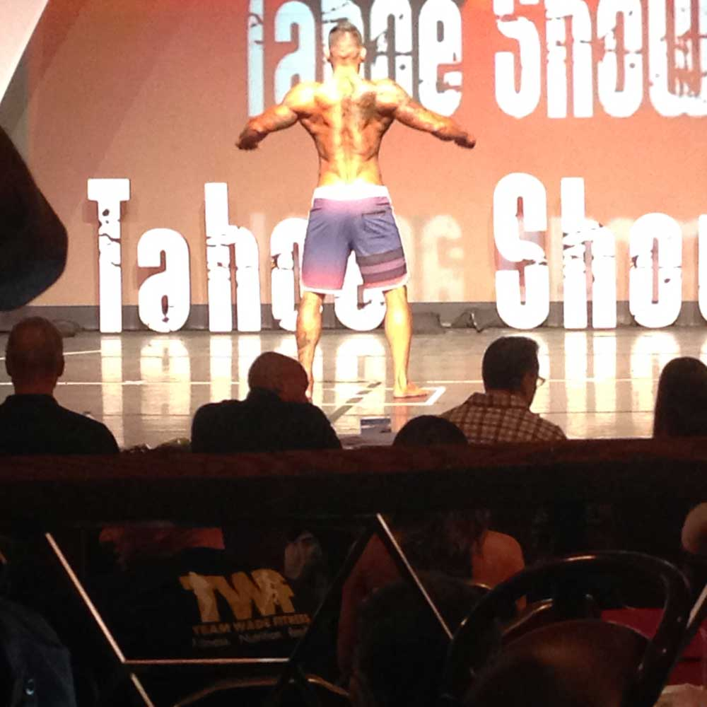 John Foster at the Tahoe bodybuilding competition