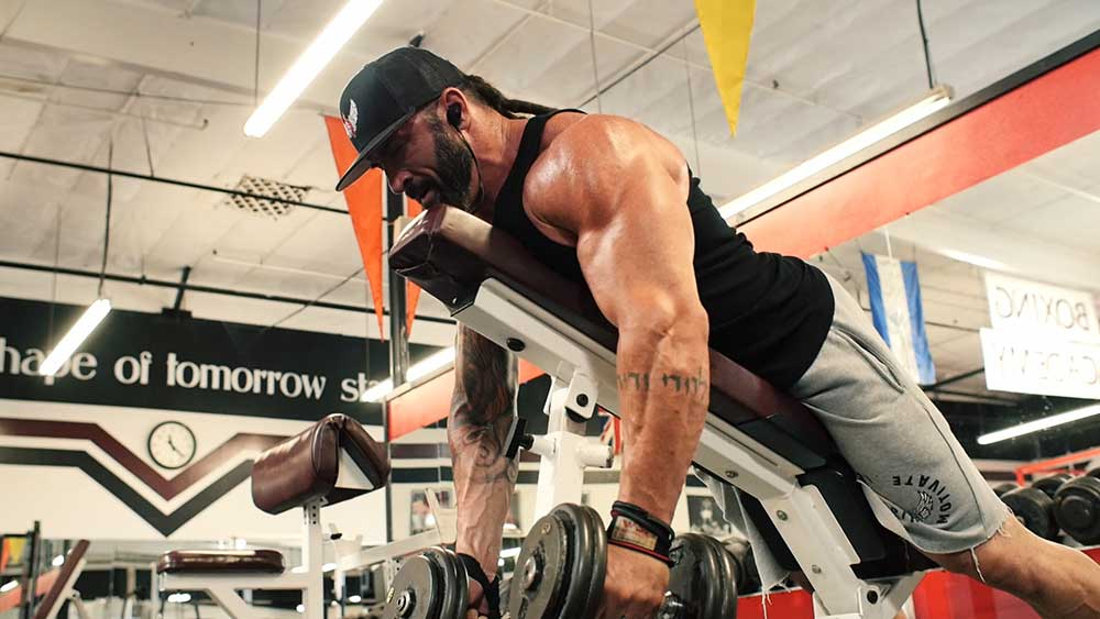 incline rows for back workout
