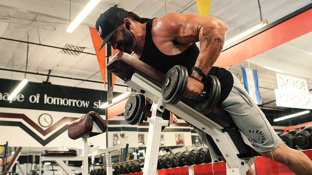 incline rows for back workouts