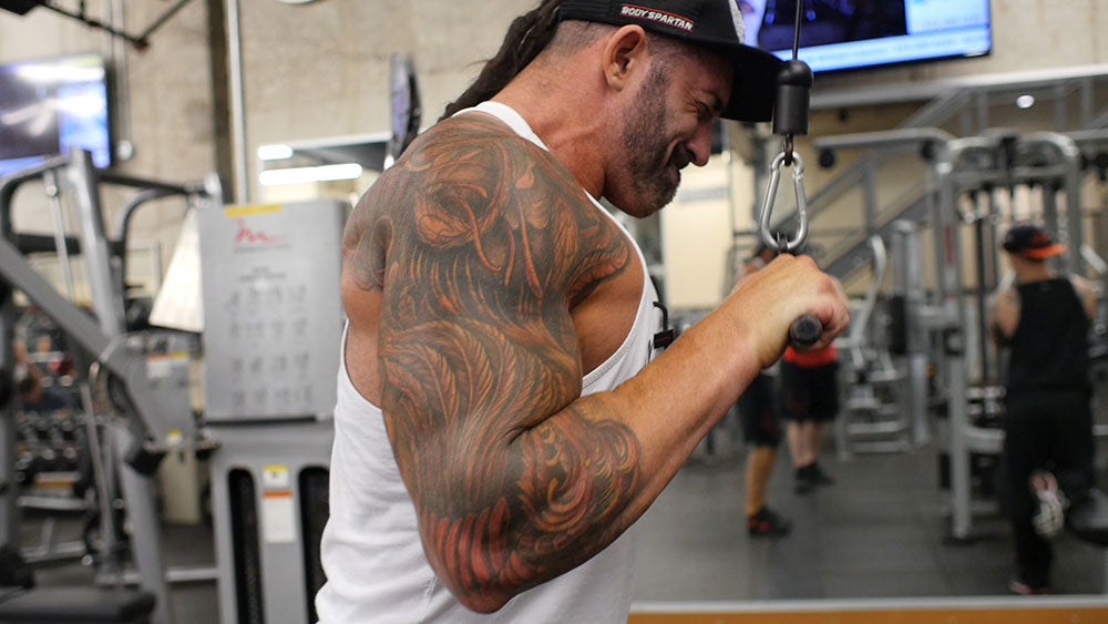 Triceps extensions arm workout