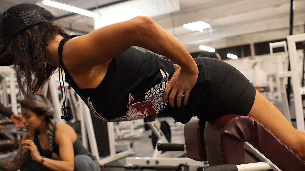 hyper extensions glute and hamstring workout