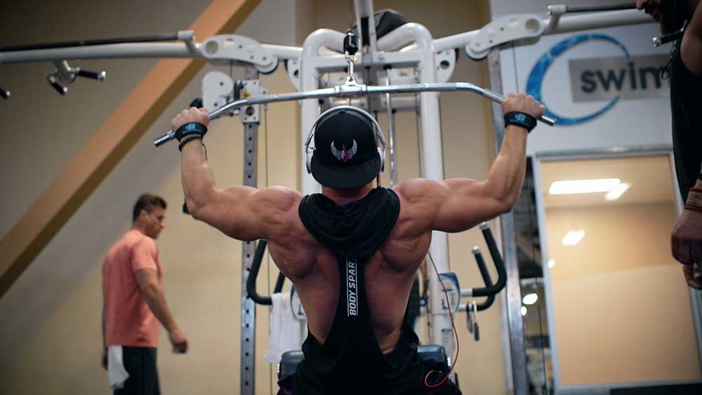 Lat pull downs for back workouts