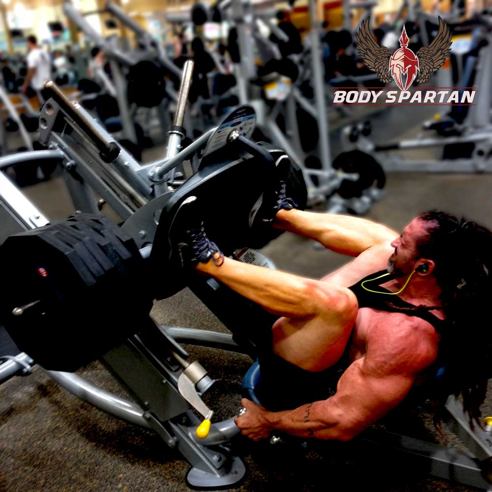 Leg press at the end of your leg workout