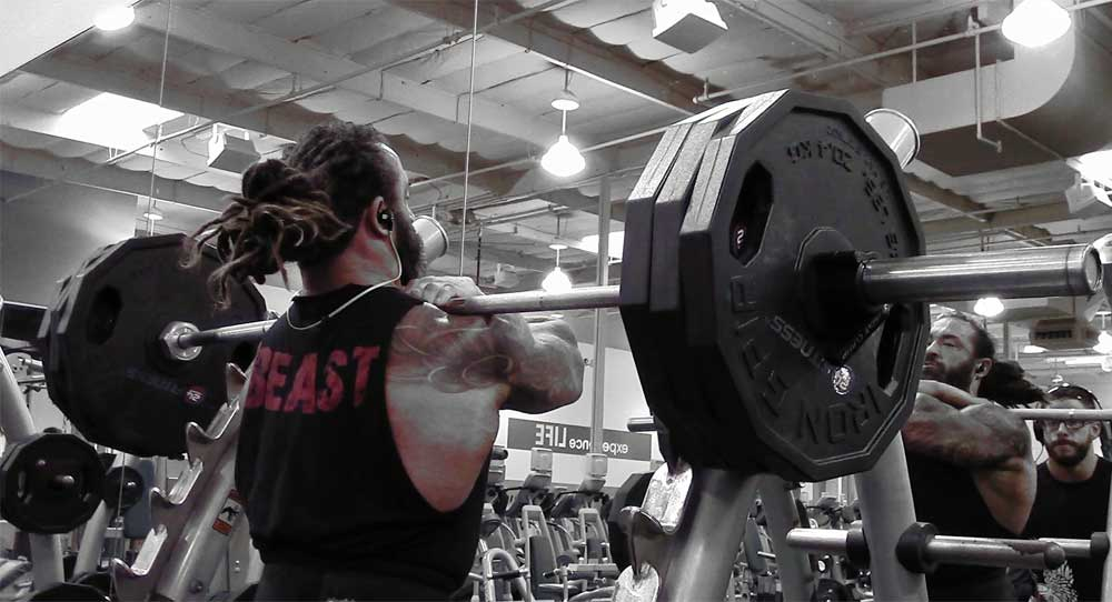 Front squats for leg workouts