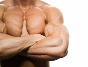 Lifting weights for muscle growth