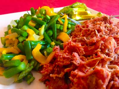 Pulled pork and vegetable medley low carb recipe