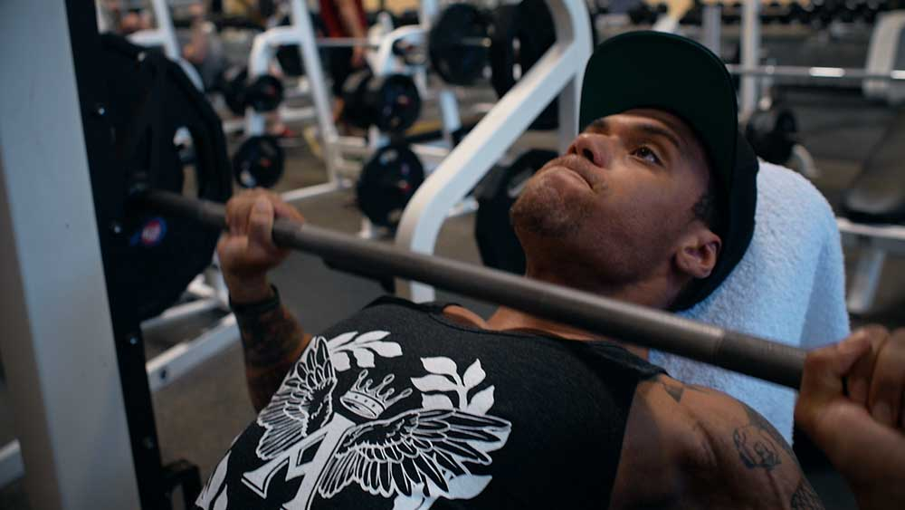 Smith machine incline press for chest workout 01