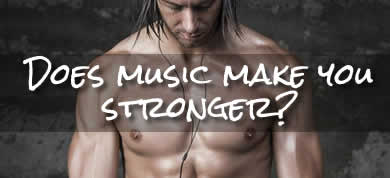 Does music make you stronger when weight lifting?