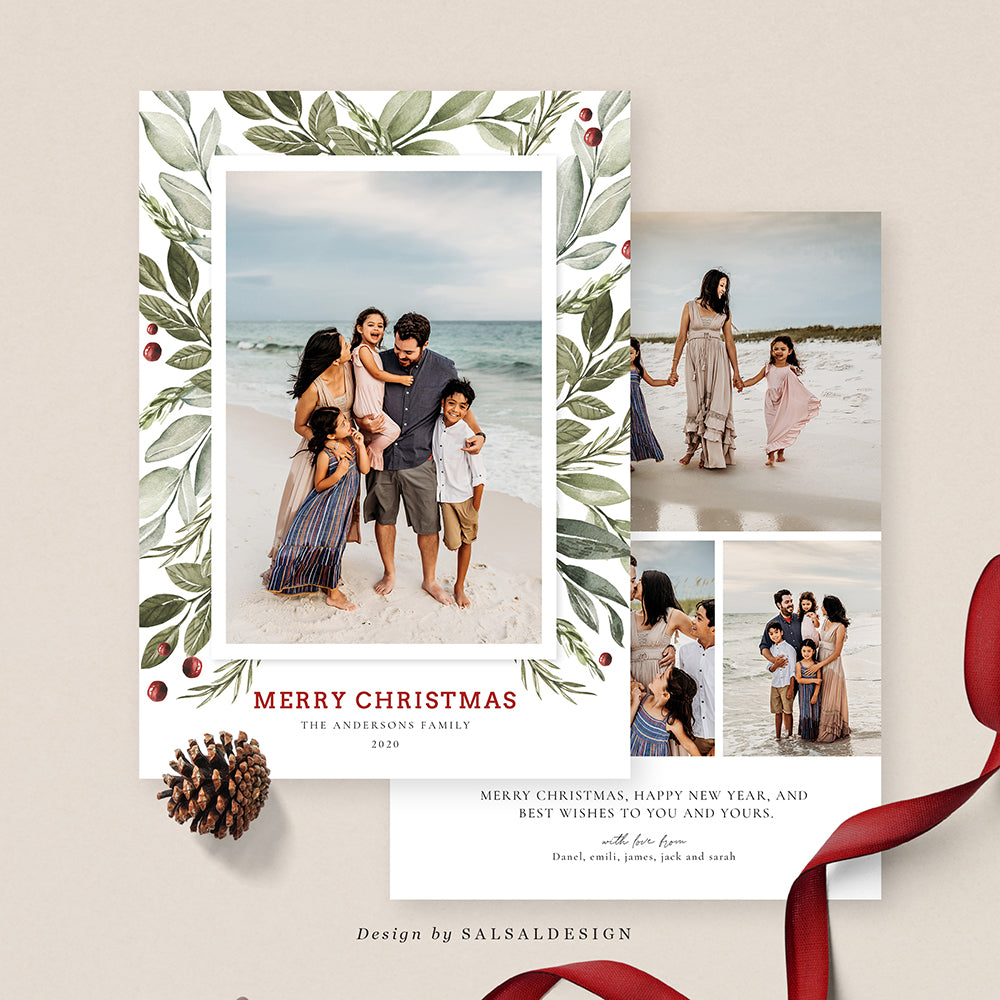 Christmas 5x7 Photo Card | Greens - CD213