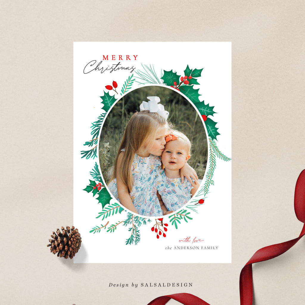 Christmas 5x7 Photo Card | Holiday Crown - CD243