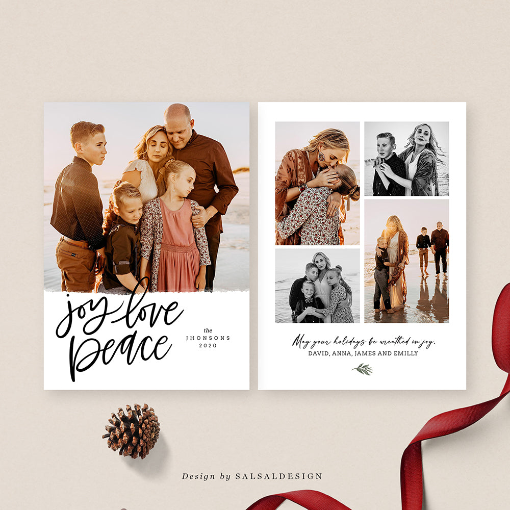 Christmas 5x7 Photo Card | Classic Joy - CD209