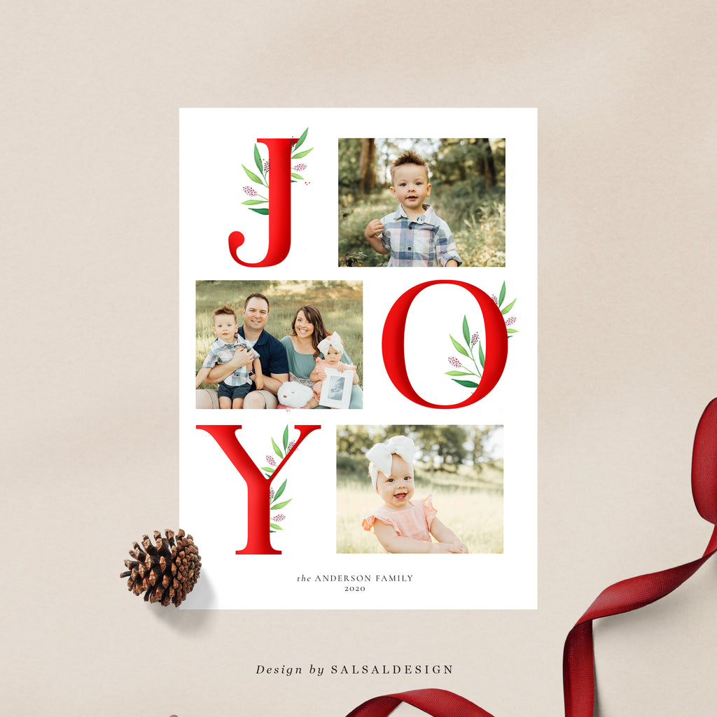Christmas 5x7 Photo Card | Modern Joy - CD233