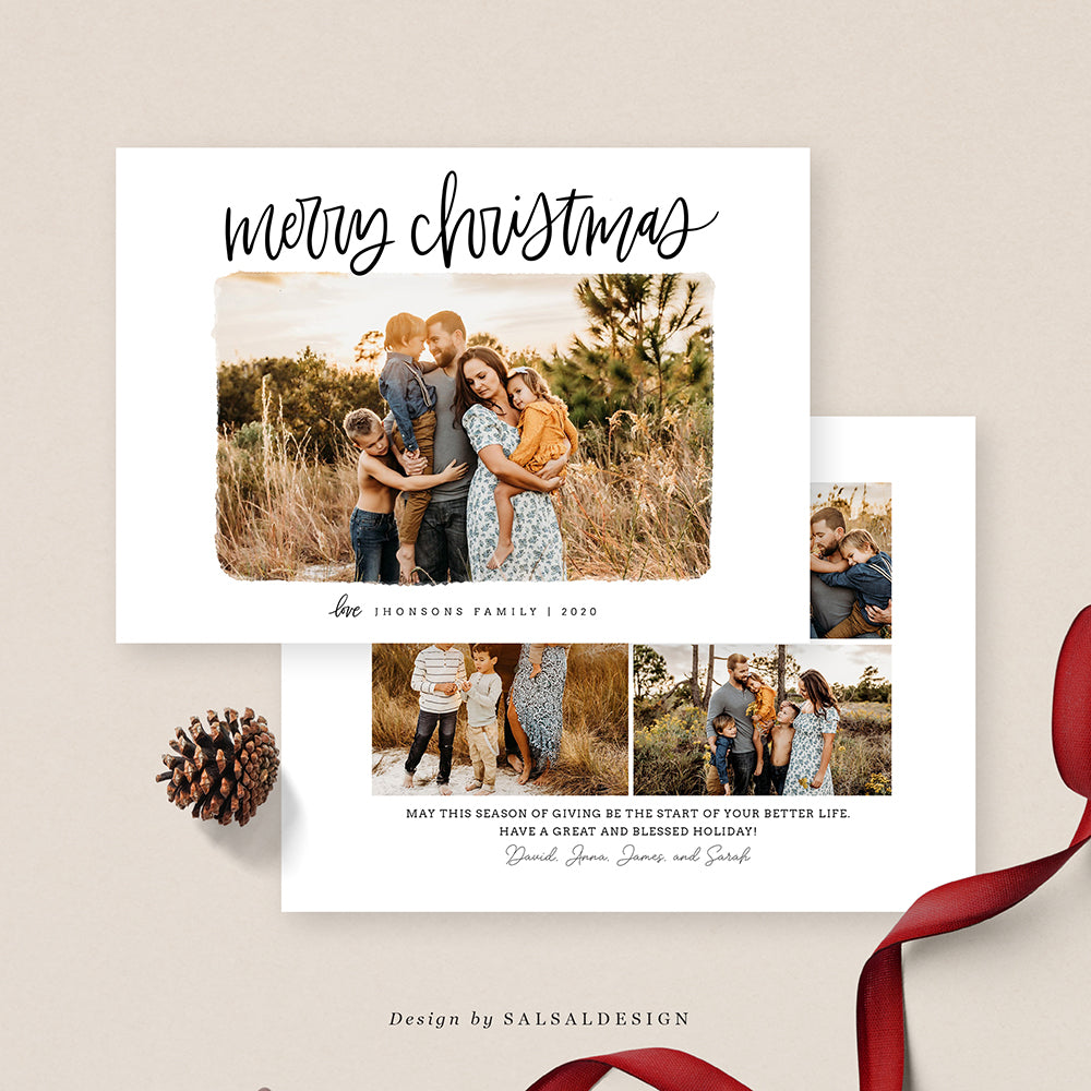 Christmas 5x7 Photo Card | Charming & Merry - CD208