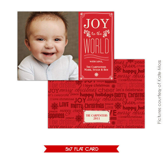 Holiday Photocard Template | Baby Joy e109