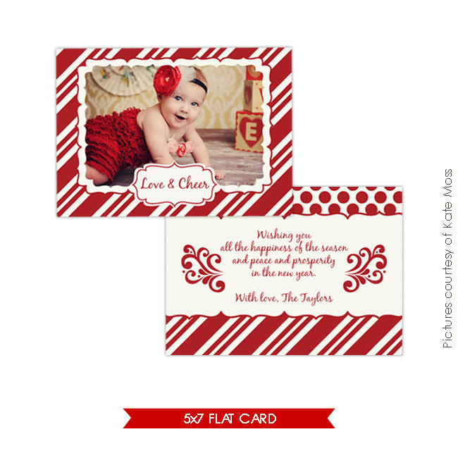 Holiday Photocard Template | Be happy e225