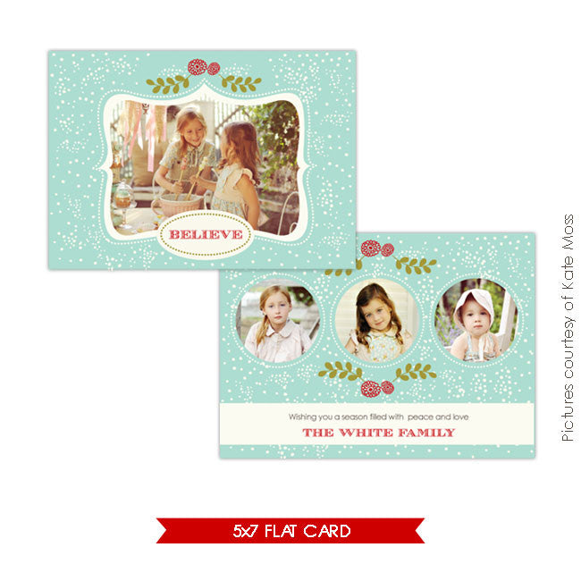 Holiday Photocard | Blue Snow e139