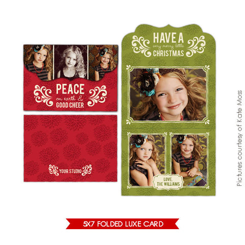 Holiday Ornate Photocard  | Cheer e171