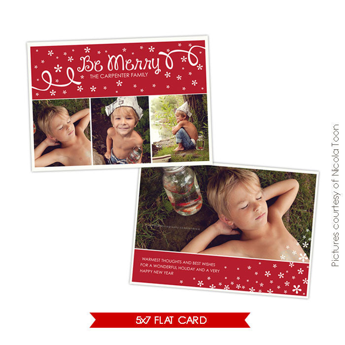 Holiday Photocard Template | Christmas Dream e506