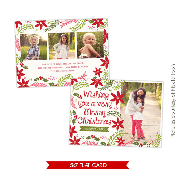 Holiday Photocard Template | Christmas Spirit e502