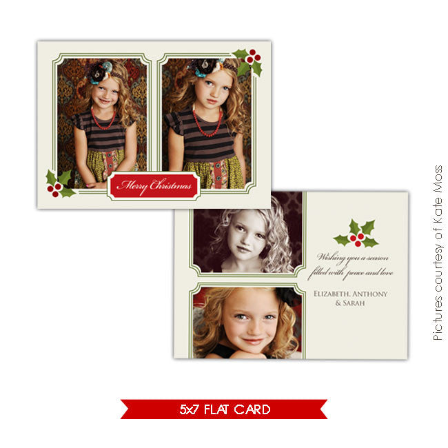 Holiday Photocard Template | Classic Christmas e126