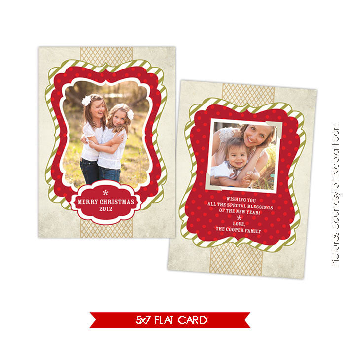 Holiday Photocard Template | Classic Holiday e504