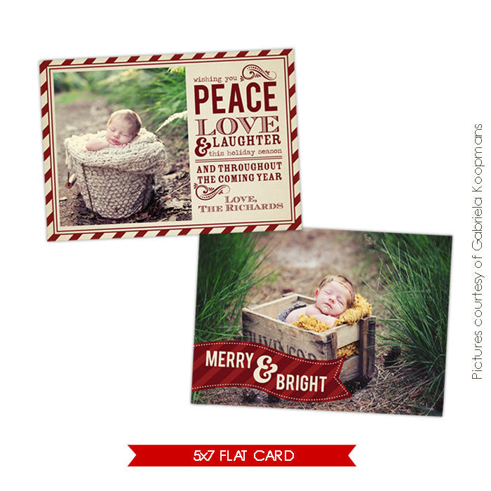 Holiday Photocard Template | Classic Wishes e519