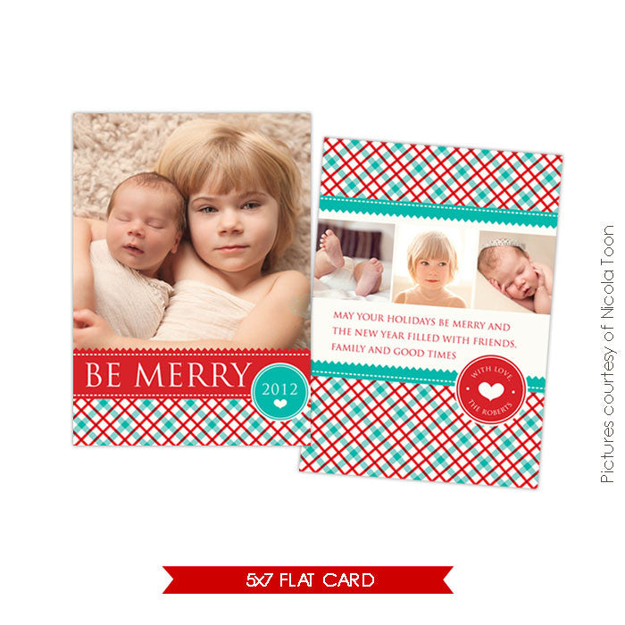 Holiday Photocard Template | Country Christmas e505