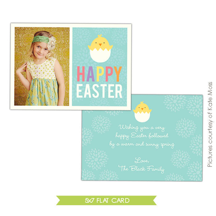 Easter photo card | Cute chick e337