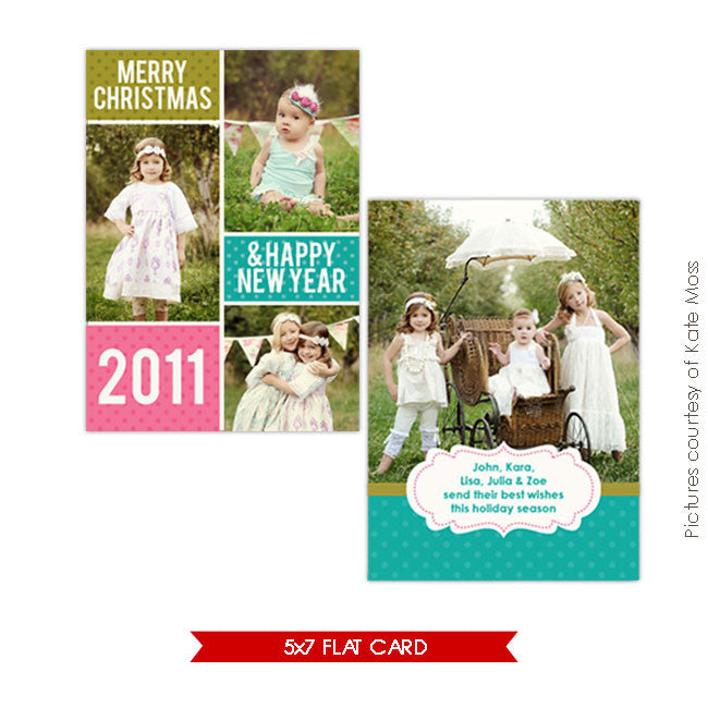 Holiday Photocard | Dots & Fun e213