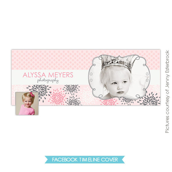 Facebook timeline cover | Dots and blossoms e406