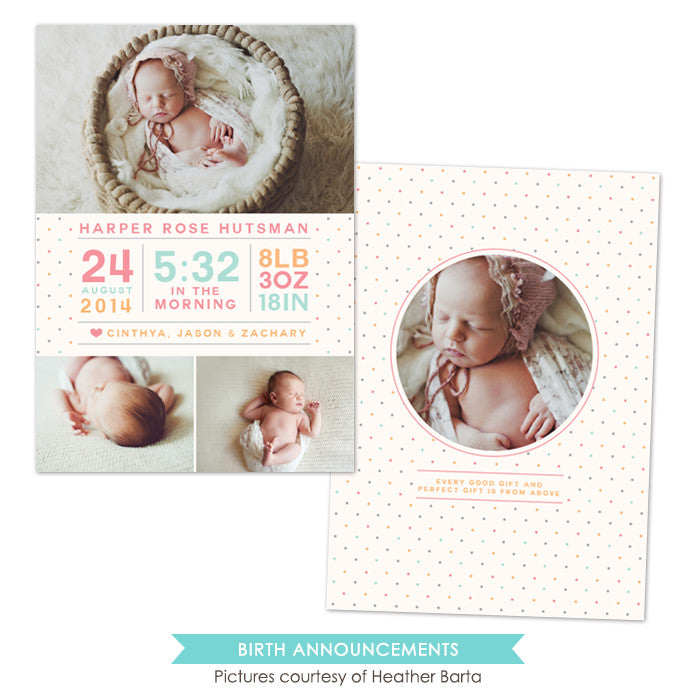Birth Announcement | Heaven Gift e1054