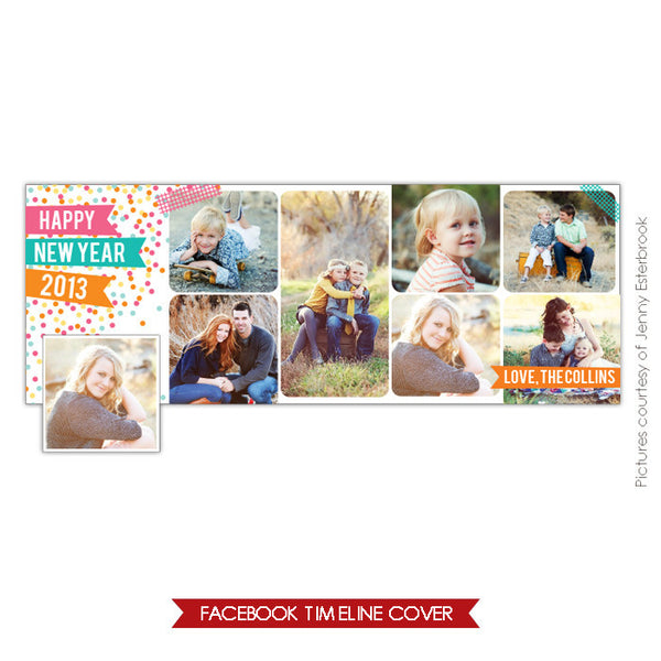 Facebook timeline cover | Confetti party e645