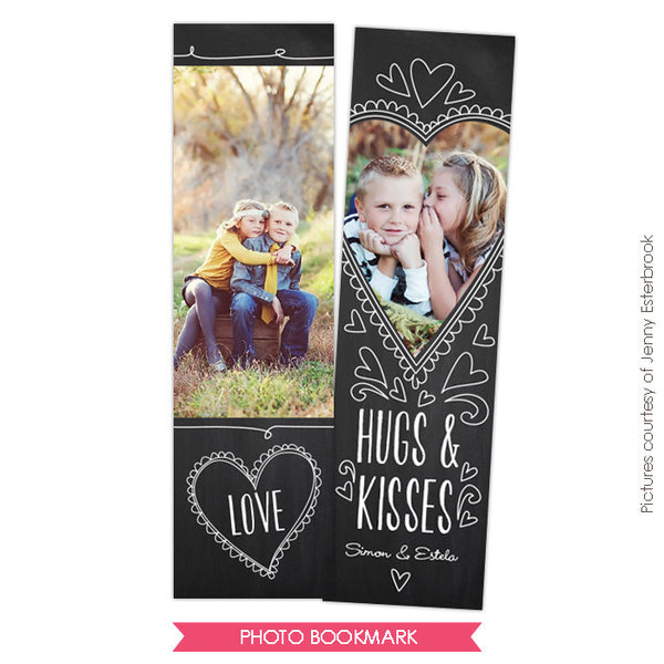 Valentine Bookmark template | Love class e674