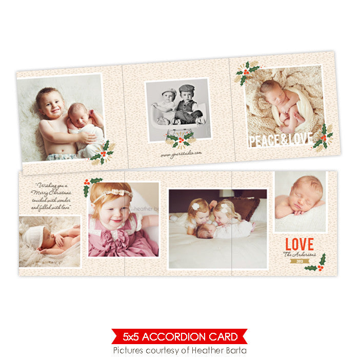 Holiday accordion card 5x5 | Snowy Days - e950