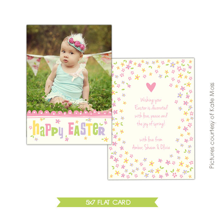 Easter photo card | Easter daisies e333