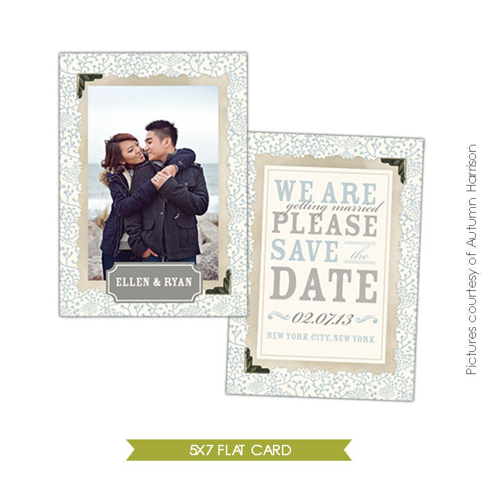 Eternal love | Save the date card e301