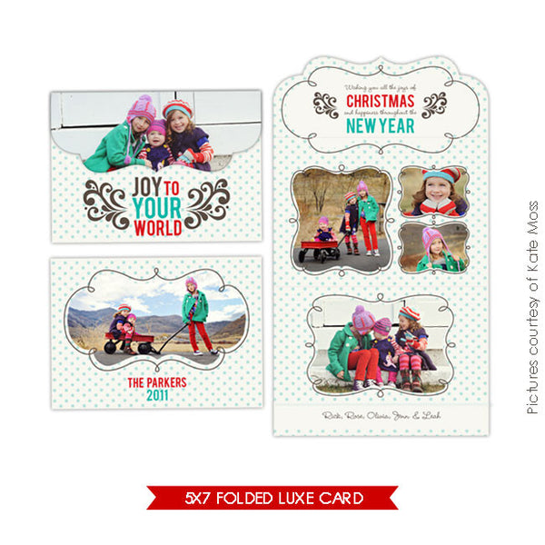 Holiday Ornate Photocard  | Family Joy e229