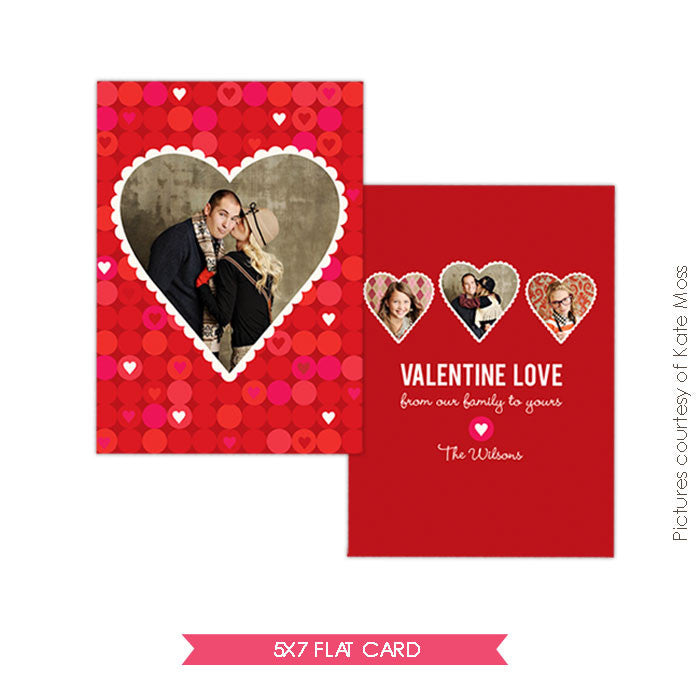Valentine Photocard Template | Family Love e281