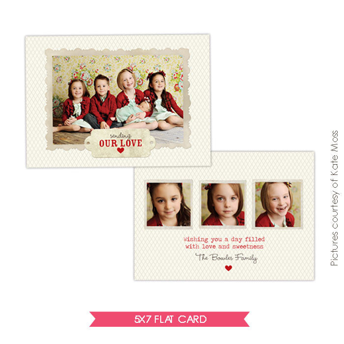 Valentine Photocard Template | Filled hearts e294