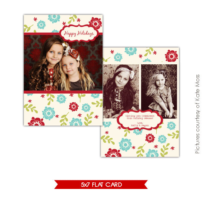 Holiday Photocard | Floral Greeting e145