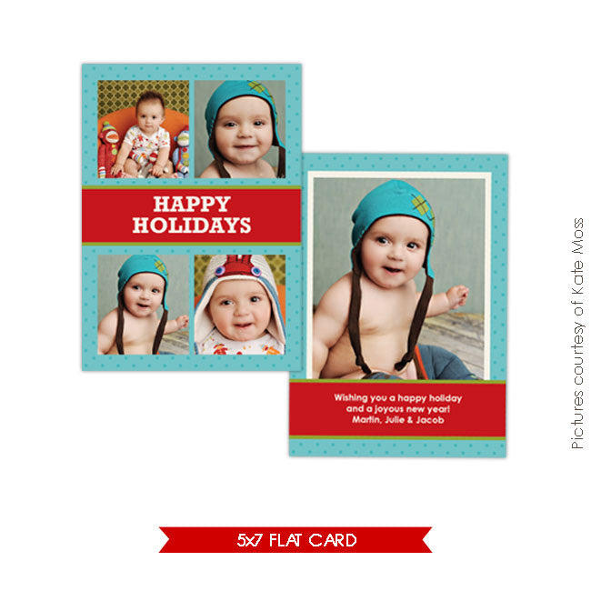 Holiday Photocard Template | Fun holidays e181