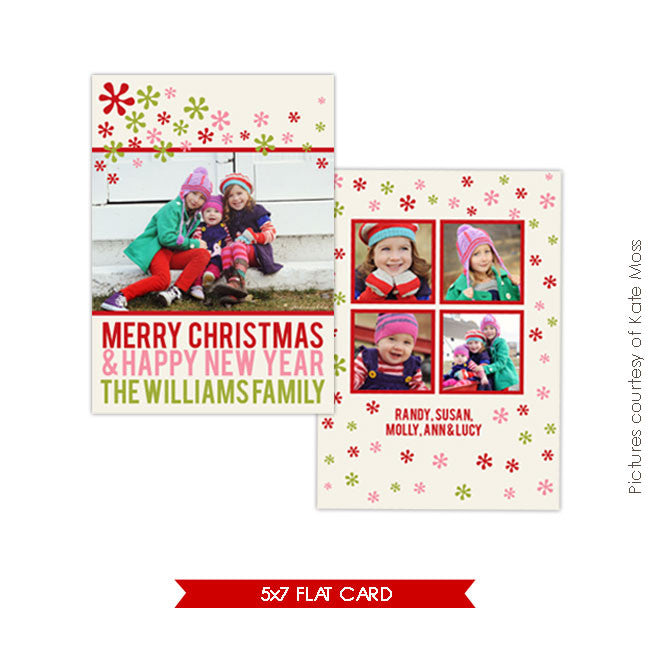 Holiday Photocard Template | Funky Christmas
