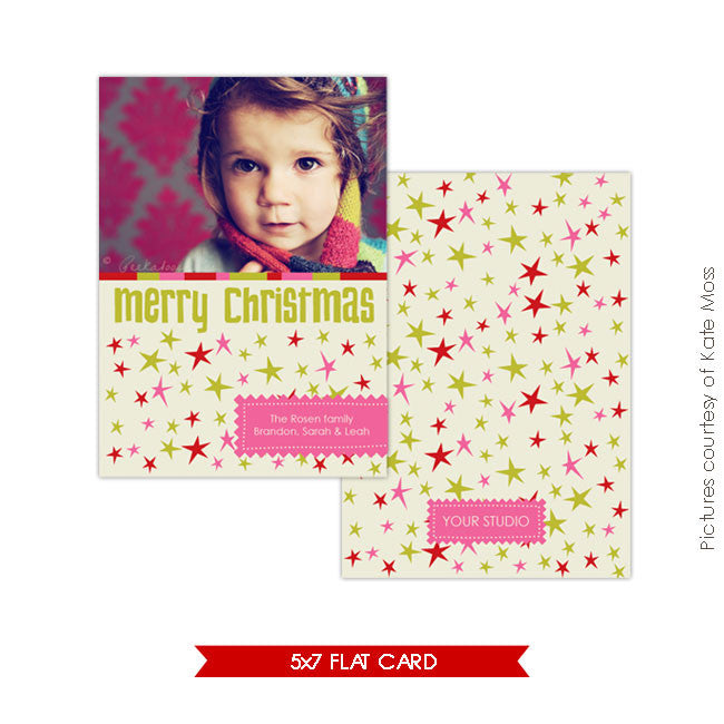 Holiday Photocard | Funky Stars e111