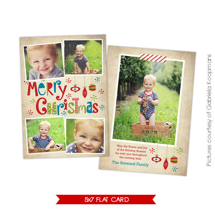 Holiday Photocard Template | Funny Moments e522