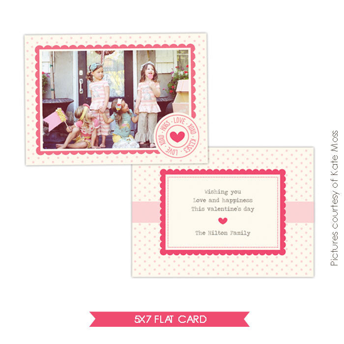 Valentine Photocard Template | Funny Friends e296